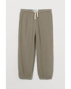Hose aus Doppelgewebe Helles Khakigrün