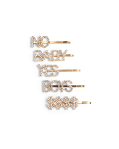 5-pack Golden Rhinestone Bobby Pins Multi