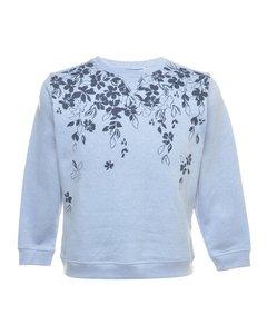 2000s Karen Scott Floral Printed Sweatshirt
