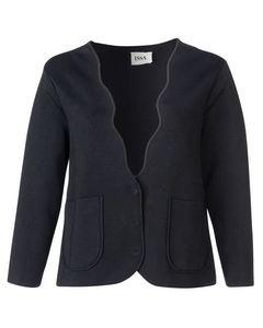Cropped Wavey Collar Jacket