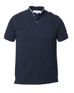 Band Collar Poloshirt Navy