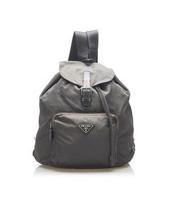 Prada Tessuto Drawstring Backpack Brown