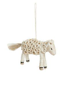 Sheep Ornament 14 Cm Off White
