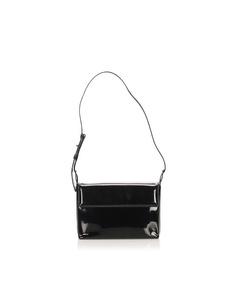 Ferragamo Patent Leather Shoulder Bag Black