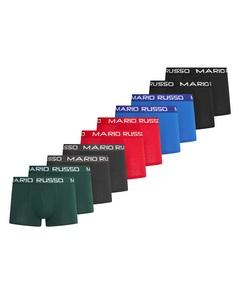 Mario Russo 10-Pack Basic Boxers Blau