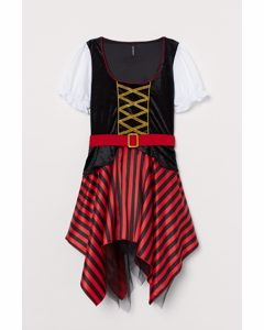 Verkleidungskostüm Rot/Pirat