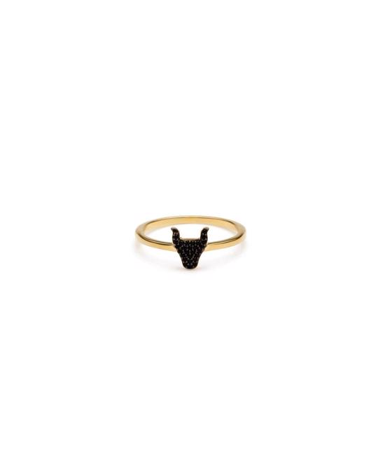 Syster P Snap Ring Bulls Head Gold