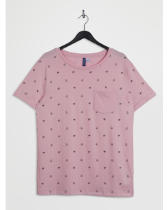 Roll Up Tee Pink