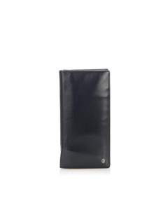 Cartier Leather Long Wallet Black