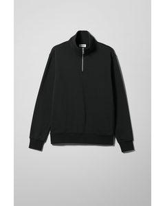 Markus Zip Sweatshirt Black