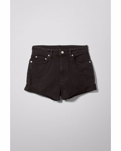 Jeansshorts Fair Verwaschenes Schwarz