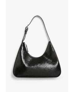 Tasche aus Lederimitat Schwarz
