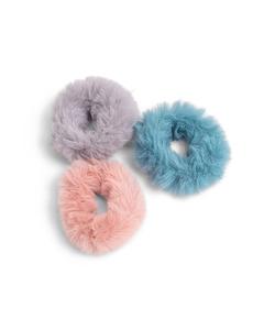 3-pack Faux Fur Scrunchies  Multi