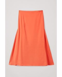 A-line Midi Skirt Orange