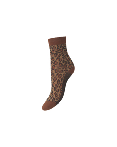 Leo Glammy Sock Brownish