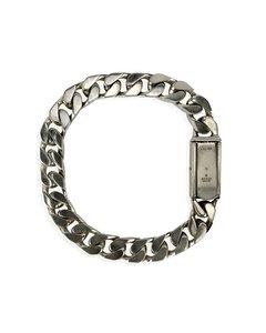 Gucci Sterling Silver Gourmette Chain Unisex Bracelet