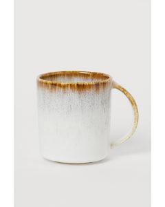 Mugg I Keramik Vit/beige
