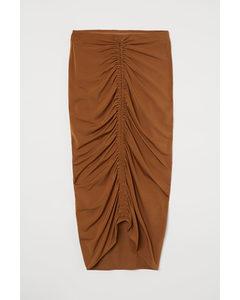 Draped Skirt Brown