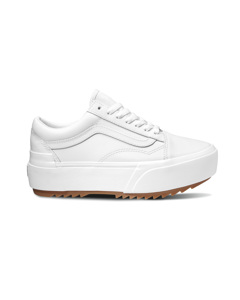 Ua Old Skool Stacked F (leather) True White/true White