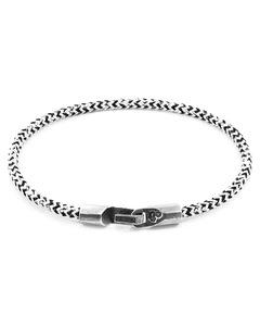 Weisse Noir Talbot Silber Und Seil Armband