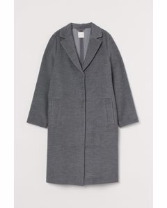 Knee-length Coat Grey Marl