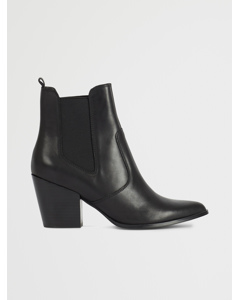 Patricia Bootie Black leather