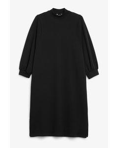 Oversize-Kleid in Midilänge Schwarz