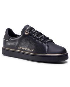 Sneakers Flats Svart Guld