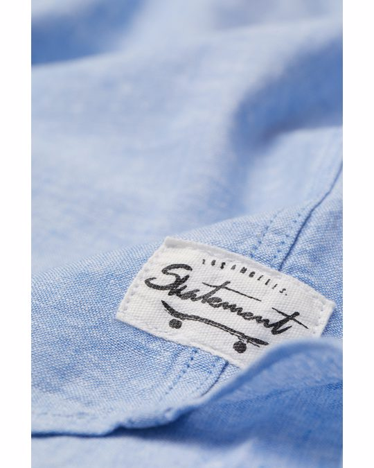 H&M Hemd Hellblaumeliert