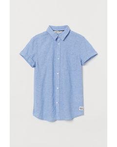 Hemd Hellblaumeliert