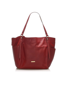 Burberry Canterbury Leather Tote Bag Red