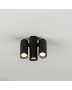 Elegante 3 Cilinders Mat Zwart Lakken Plafond Licht