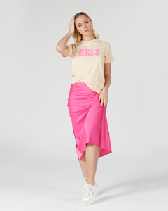 W. Bias Skirt Bright Pink