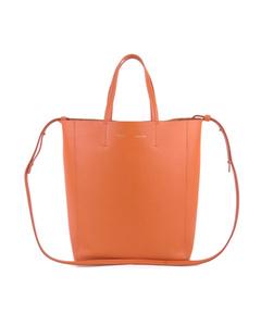 Celine Small Vertical Cabas Leather Satchel Orange