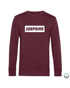 Subprime Sweater Block Burgundy Rot