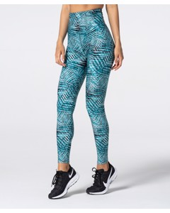 Full Print Green Tropical Highwaist Leggings