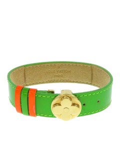 Louis Vuitton Monogram Vernis Good Luck Bracelet Green