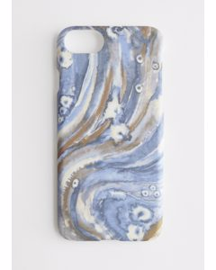 Marbled Ink Printed Iphone Case Iphone 6 7 8