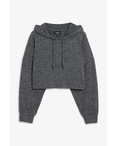 Super-soft Cropped Hoodie Grey
