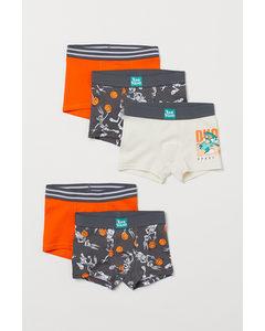 5er-Pack Boxershorts Orange/Space Jam