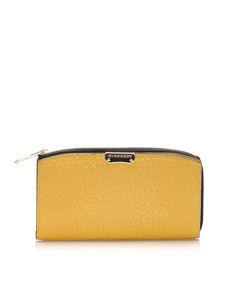 Burberry Madison Leather Long Wallet Yellow