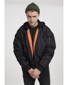 Hooded Oversized Bomber Jacket