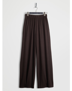 Lyocell Wide Leg Pants Brown