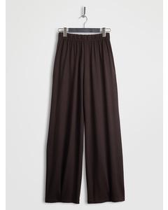Lyocell Wide Leg Pants Brown