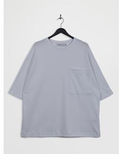 Oversized 3/4-sleeve Pocket T-shirt White