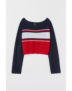 Striped jumper Dark blue/Red