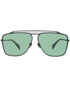 Yohji Yamamoto Mint Unisex Black Sunglasses Yy7040 64002 64-12-150 Mm