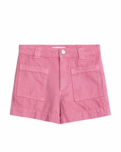 Workwear-Shorts aus Baumwoll-Lyocell-Mischung Rosa