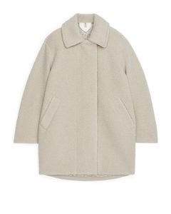 Oversized Pile Coat Off-white