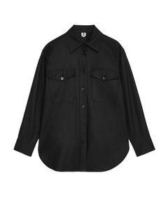 Cotton Lyocell Overshirt Black